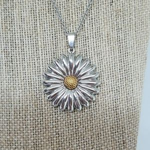 Stainless Steel Sunflower Necklace